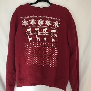 Tops - Dan And Phil Shop Merch Red Christmas Sweatshirt